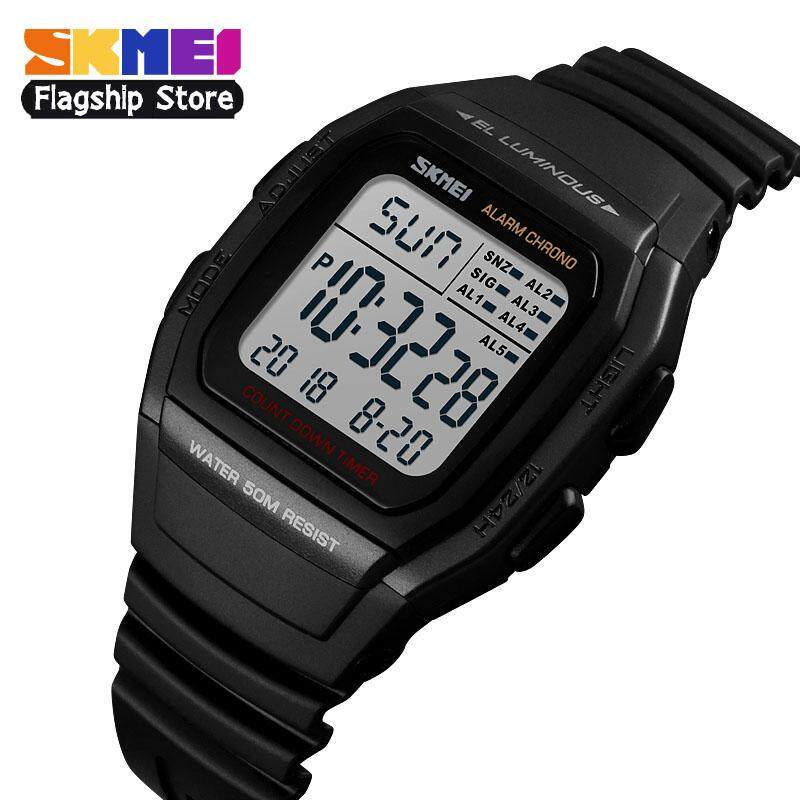 SKMEI New Men Sports Watches Retro Multifunction Fashion Watch Square Chrono Countdown Waterproof Wristwatches 1278 Malaysia
