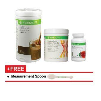 Herbalife Formula 1 (F1) Chocolate, Protein (F3), Lemon & Hibiscus Tea 100g Nutrition - Start Now Pack (3 Products)