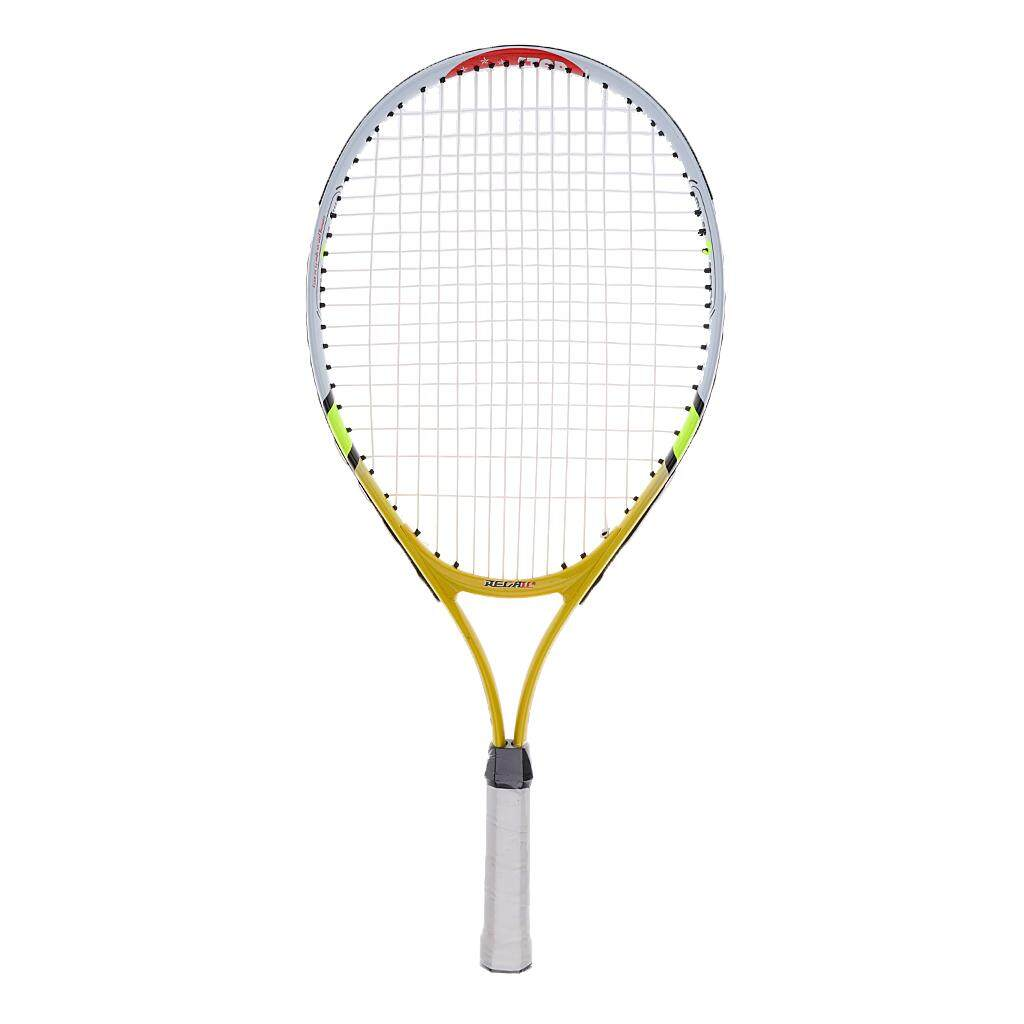 492fead0206 Miracle Shining Aluminium Alloy Kids Junior Tennis Racquet Training Racket  With Carry Bag Yellow