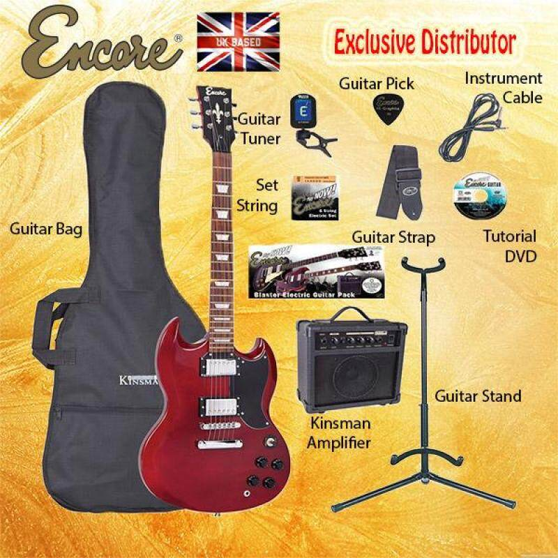 ENCORE EBP-E69BLK Cherry Red Electric Guitar Package Starter Pack Electric Guitar Bundle Malaysia