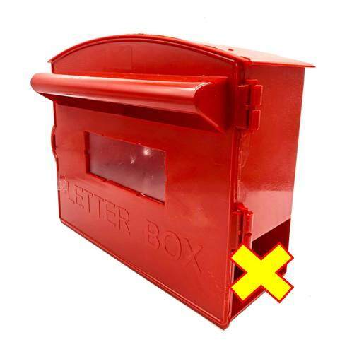 PVC Red Letter Box with / without Magazine Holder