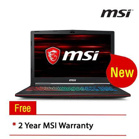 MSI GP63-8RD-409MY 15.6 Gaming Laptop/ Notebook (i7-8750, 8GB, 128GB, 1TB, NV GTX1050Ti, W10H Malaysia