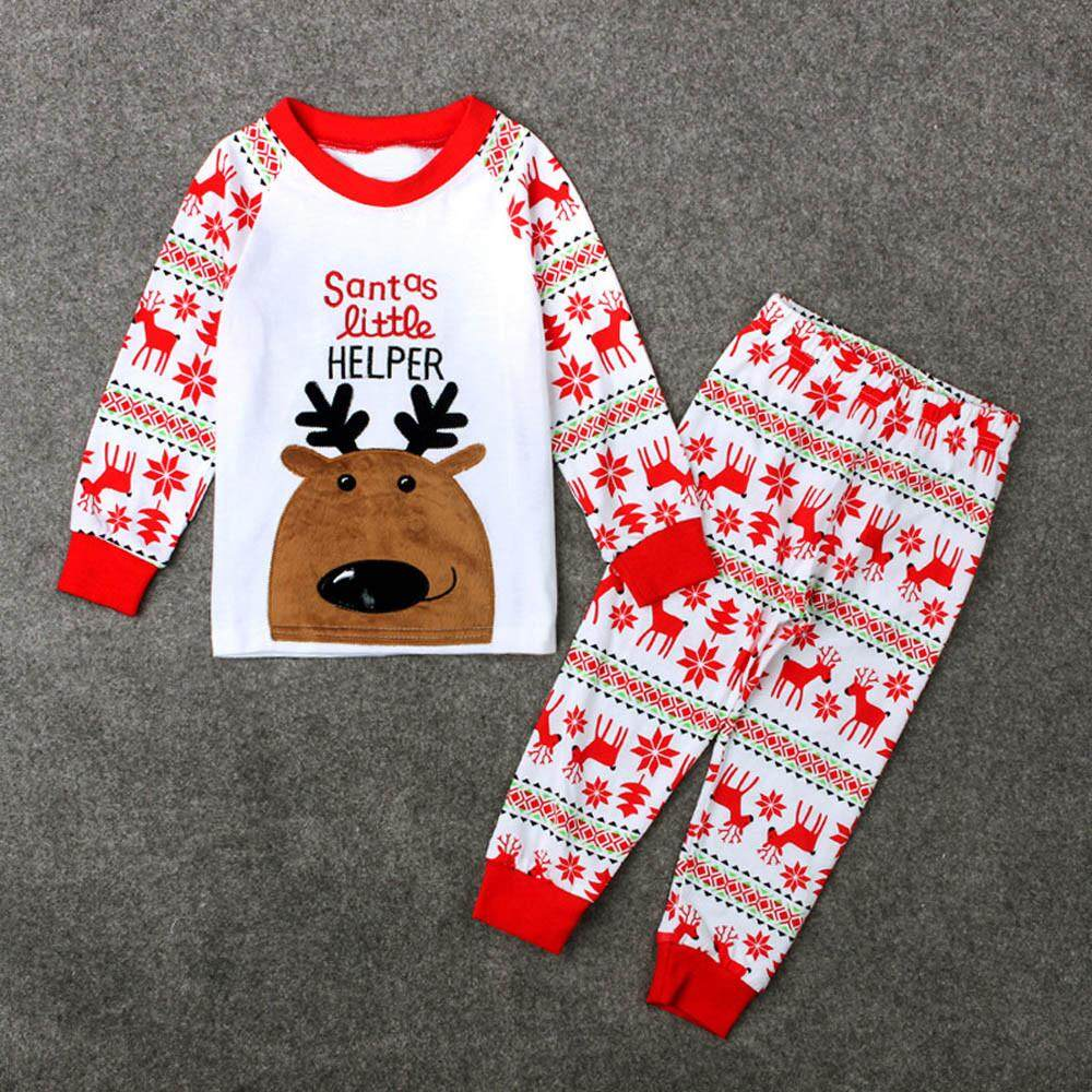5a2faa9ee 2019 M&K Boys Clothes Set 1Set Infant Baby Boys Girls Christmas Deer  T-shirt Tops