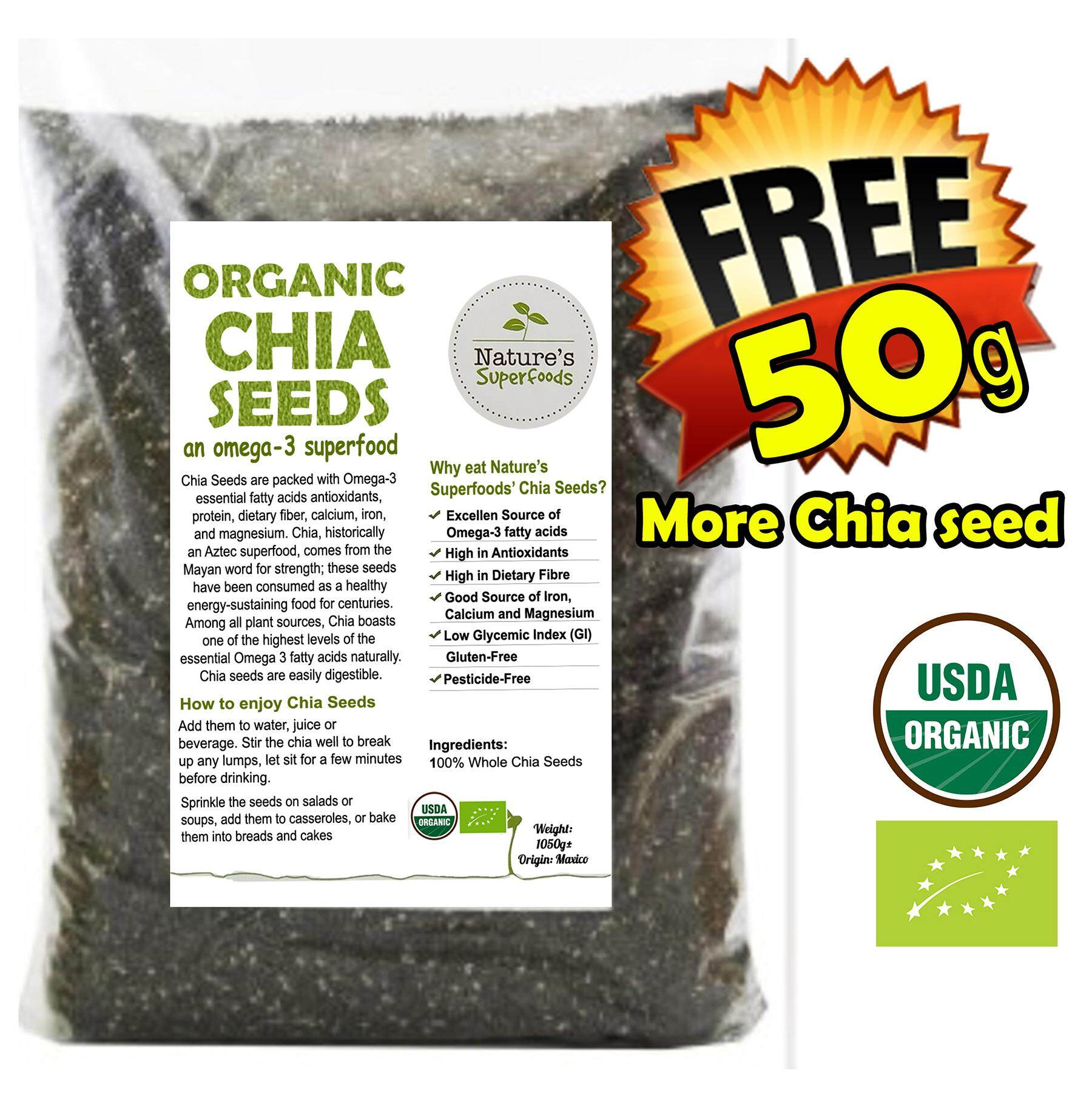 Food Supplements Products With Best Price At Lazada Malaysia Organic Black Chia Seeds 1 Kg Chiaseed 105kg 1050g Bag