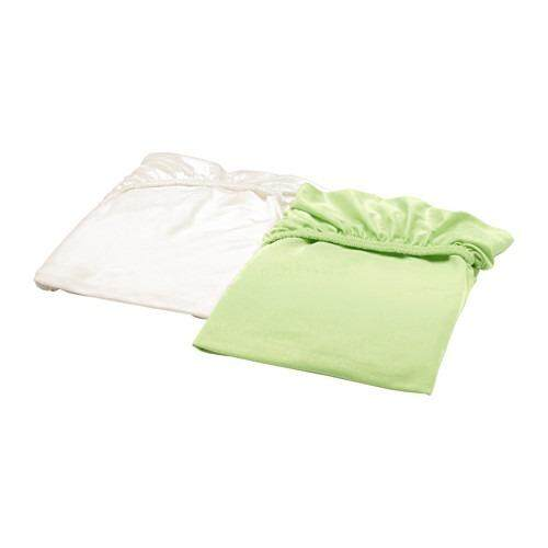 Ikea Len Babys Bed Cover/fitted Bed Sheet For Crib/cot (2 Pieces) By Living Creativee.