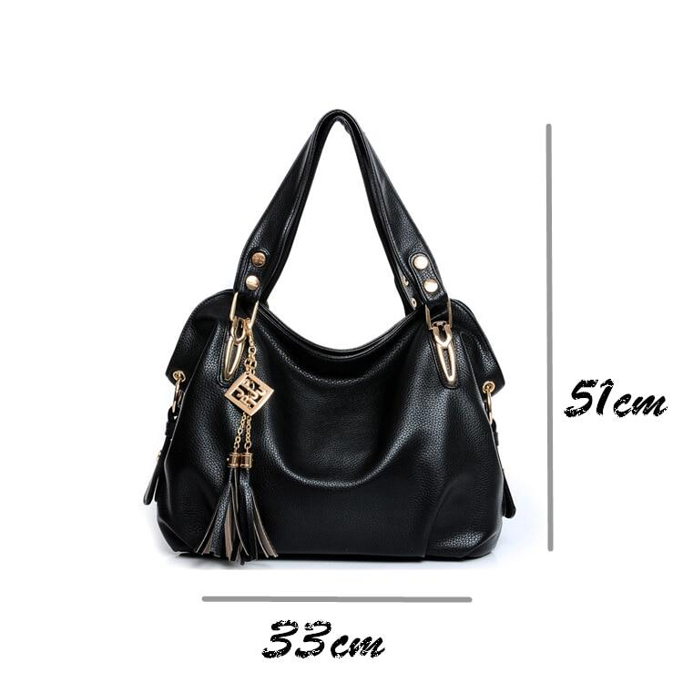 9a78f760aa9f New 2019 fashion women leather handbags messenger clutch shoulder bags  vintage tassel bags Femininas ladies large capacity