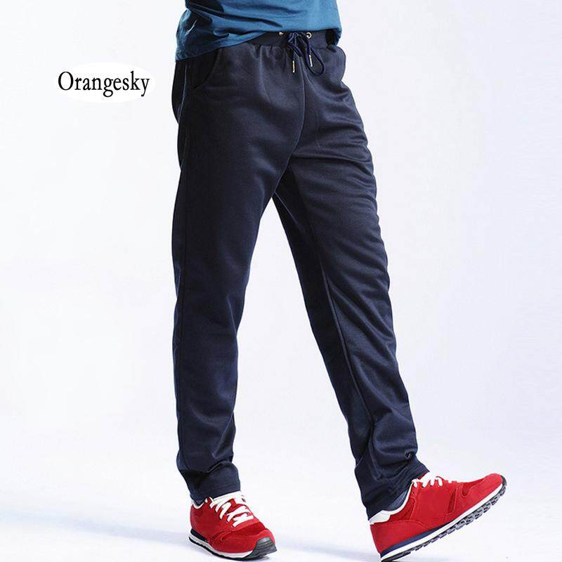 a79b3bb676 Orangesky New Men Joggers Sweatpants Workout Full Length Casual Pants Solid  Drawstring Trousers Plus Size