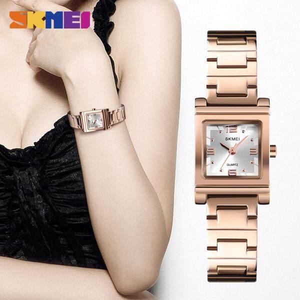 SKMEI New Women Bracelet Watch Quartz Stainless Steel Elegant Waterproof Fashion Wristwatches 1388 Malaysia