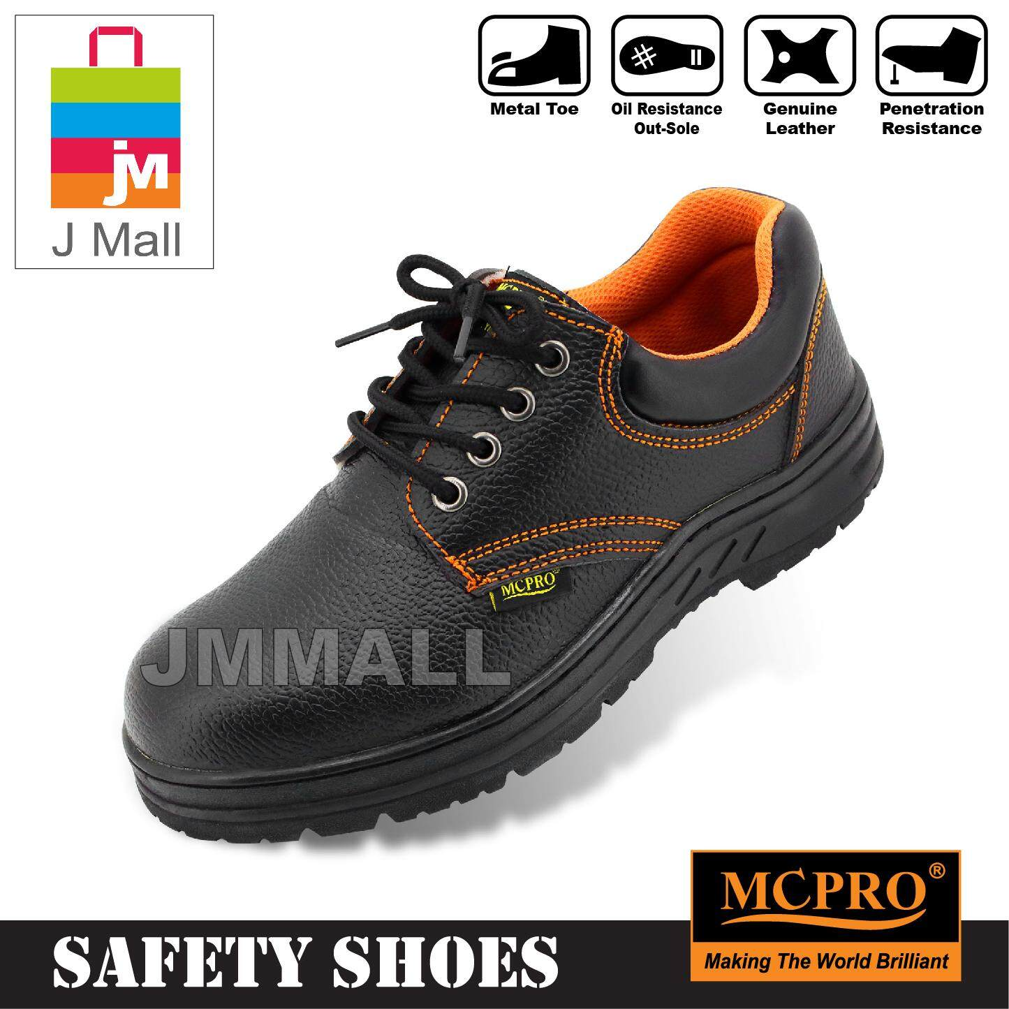 Mcpro Safety Shoes Steel Toe Cap Mid Sole Low Cut Jj200 - Black By J Mall.
