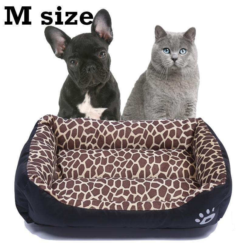 45f28aa3fdbe (M size) S-L Size Super Comfy And Soft PAW Logo Pet Bed (Leopard