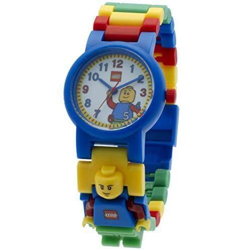 97cd63b69fc LEGO Classic 8020189 Kids Minifigure Link Buildable Watch black/yellow  plastic 25mm case diameter analog