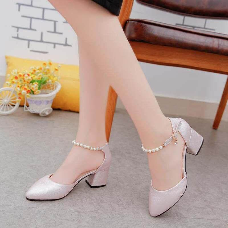 1b95f79cf Ladies Dress Elegant Sandals Back Strap Patent Leather Shoes High Heels  Pointed Toe Sandalias Mujer Beige