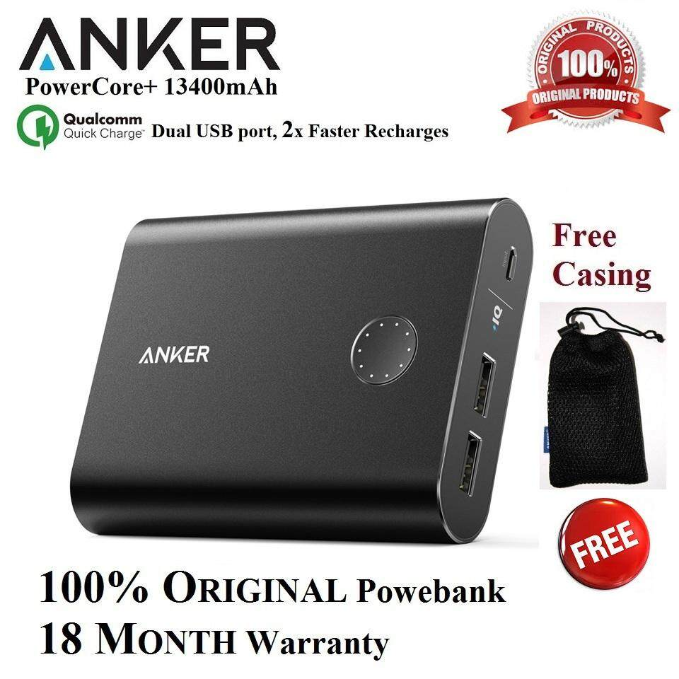 Anker Power Banks For The Best Prices In Malaysia Powerbank Powercore 10000mah Black With Quick Charge 30 13400mah 100 Original Dual Usb Port Recharges 2x Faster