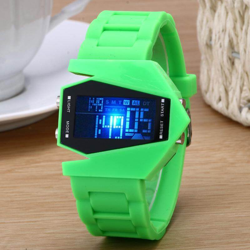 Cartoon Aircraft Shape Jelly Silicon Band LED Digital Watch Electronic Wristwatch for Children Malaysia