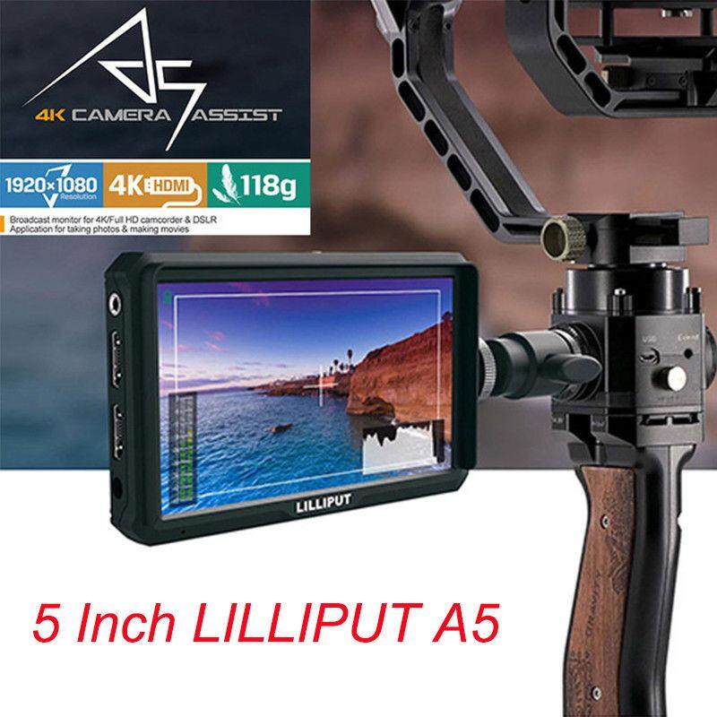 Lilliput A5 5 IPS LCD Camera Field Monitor for CanonNikonSony DSLR Gimbal Rig Malaysia