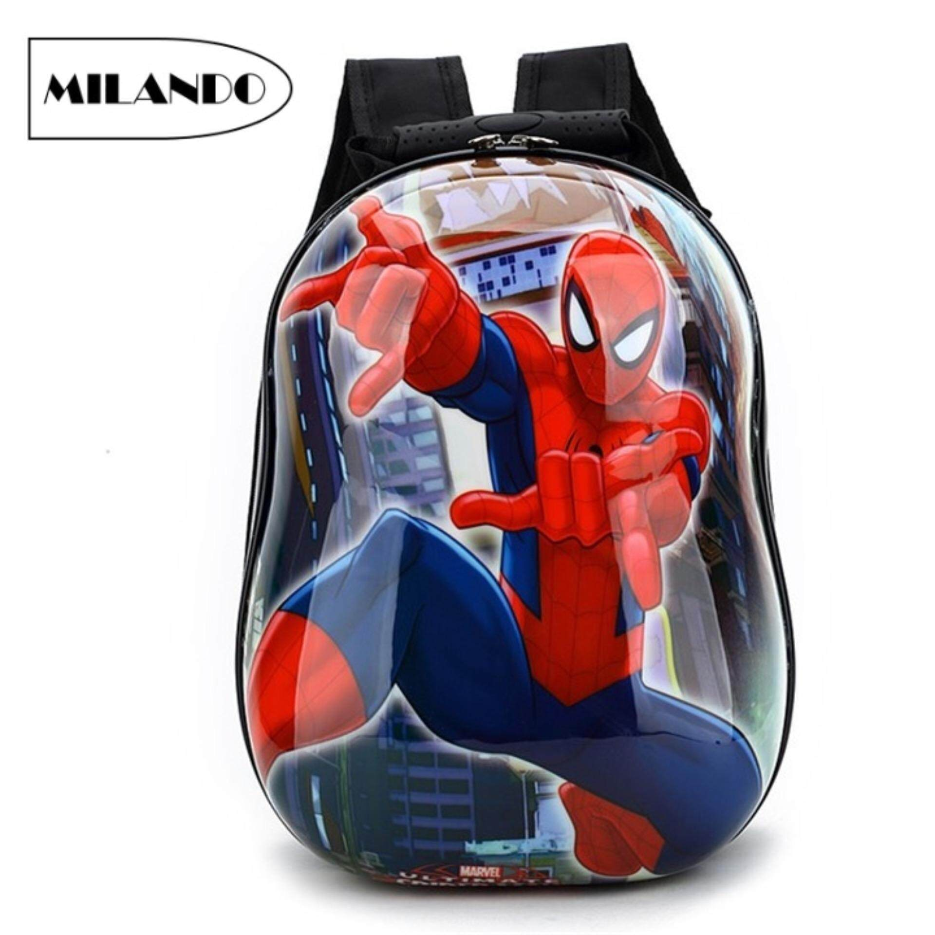 de30ecd8d400 MILANDO Kid 3D Spider Design Hard Case ABS Shell Lightweight 13-inch Backpack  School Bag