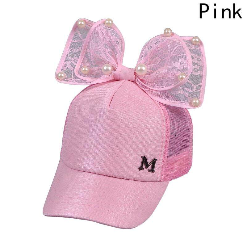 Linfang Children Creativity Lovely Bow Fine Pearl High Quality Fashion Hip  Hop Caps e6bde98b6579