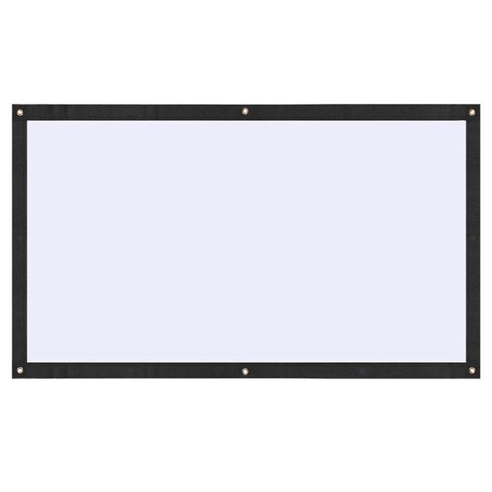 Projection Curtain Projection Screen Portable 100 Inches Polyester Home School By Mingrui.