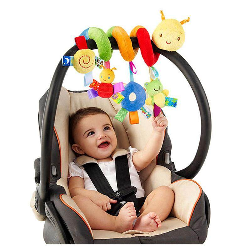 Cute Infant Baby Play Baby Toys Funny Animal Activity Spiral Bed & Toy Stroller Set Hanging Bell Rattle Toys By Rytain.