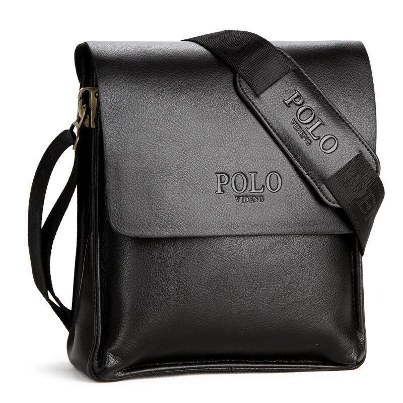 POLO Classic Men Bag PU Leather Messenger Shoulder Man Bag Office Casual  Fashion Vertical Horizontal f164ab0e87