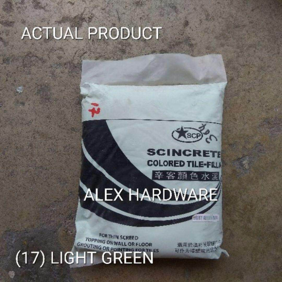3KG Light Green - Color Cement Grout; Simen warna hijau muda; 颜色洋灰