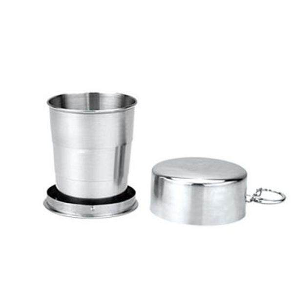 Brs-Ts35/36/37 Portable Folding Stainless Steel Cup Telescopic Collapsible Mug Camping Travel By Freebang.