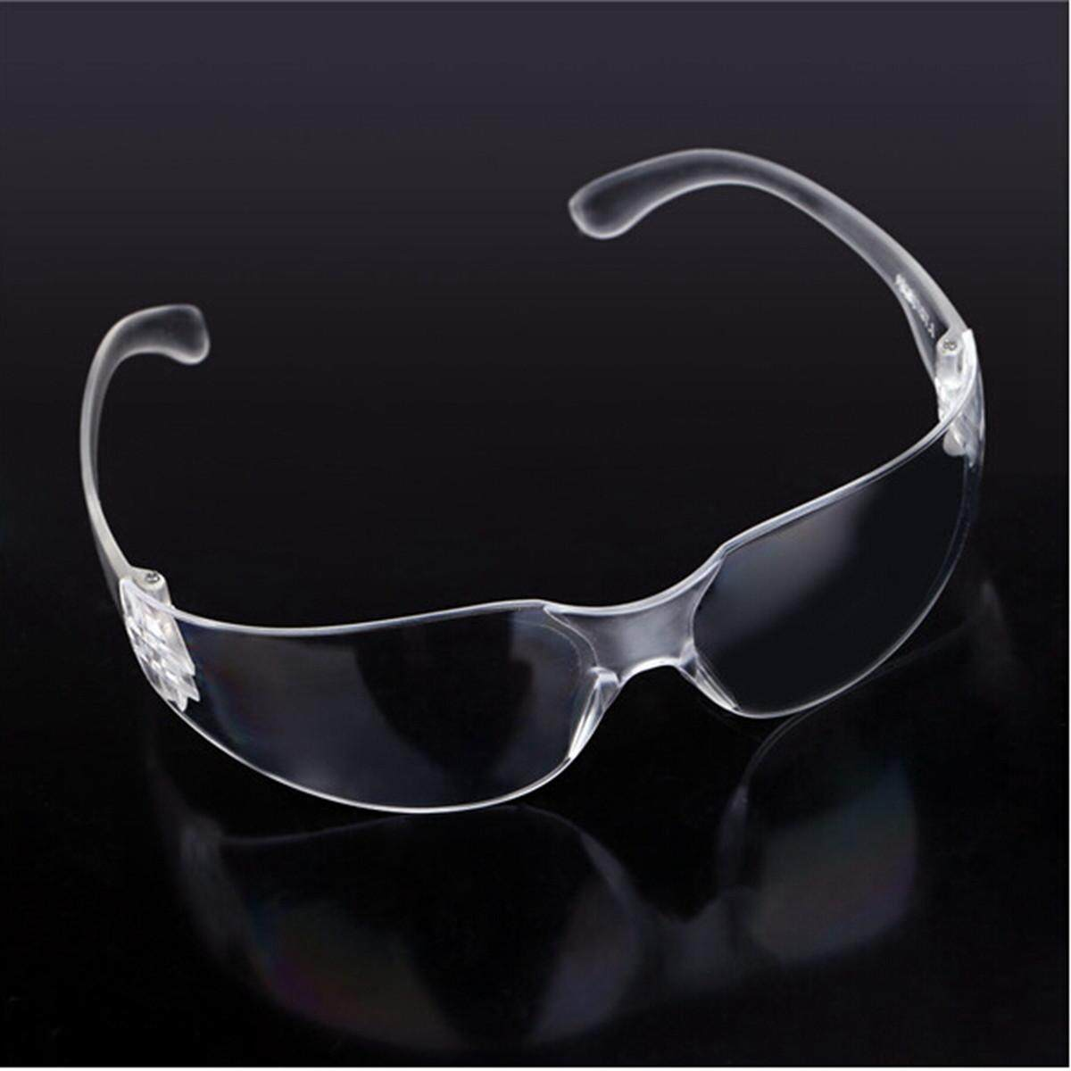 2pcs Lucency Safety Eye Protection Goggles Glasses for Workplace Lab Industrial Dust