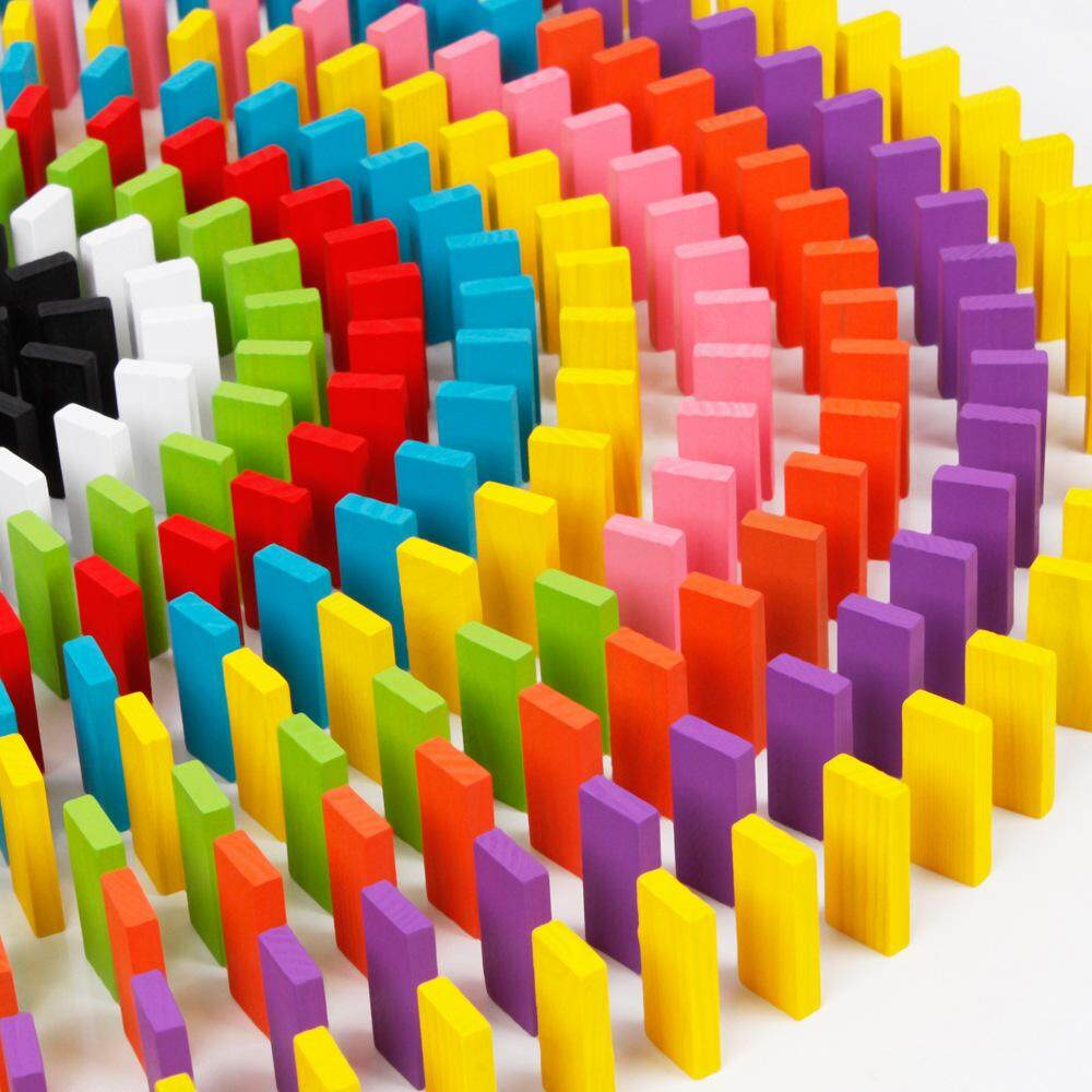 Kids Wooden Dominoes 120pcs Stacking Domino Kids Toys Educational Children Toys Colourful Domino 120pcs Domino Kayu Permainan Kanak-Kanak Permainan Domino Untuk Proses Belajar Budak (colourful) By Buddy Bloom.