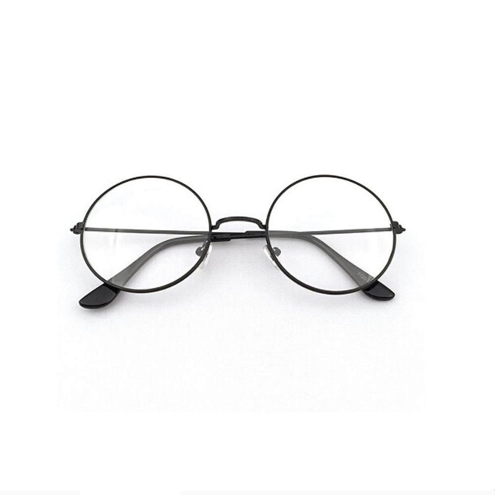 c6836f82da BZY Retro Big Round Metal Frame Transparent Lens Glasses Designer Nerd  Eyewear H03