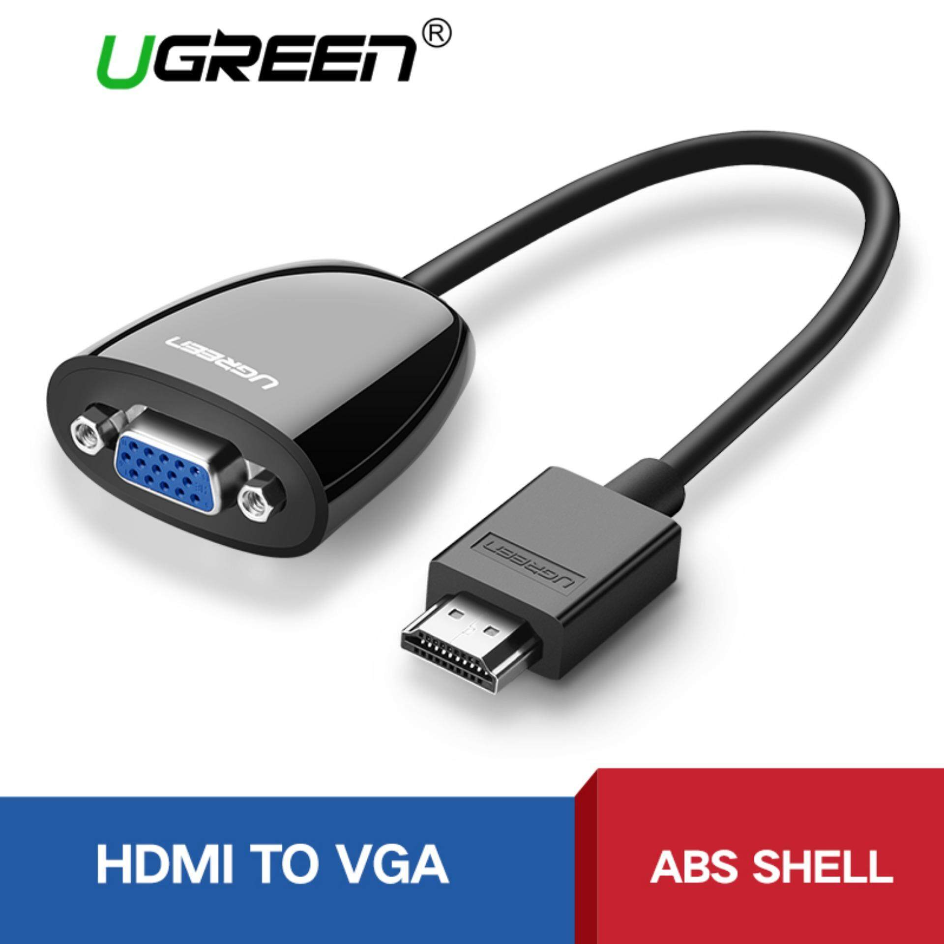 UGREEN HDMI to VGA Adapter Supprot 1920*1080P Compatible Laptop Projector - Black