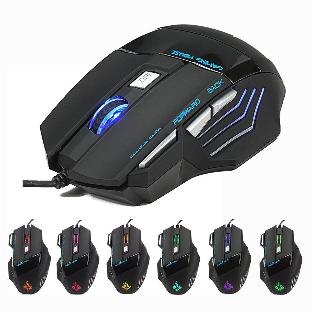 Bnenesmont New 5500 DPI 7 Button LED Optical USB Wired Gaming Mouse Mice For Pro Gamer Cool Malaysia