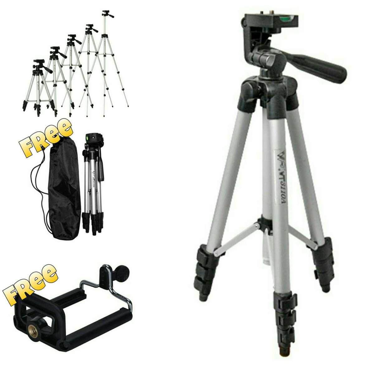 *ready Stock* Weifeng Wt-3110a Compact Lightweight Aluminum Flexible Tripod + Free Mobile Holder And Tripod Bag By Fly Automart.
