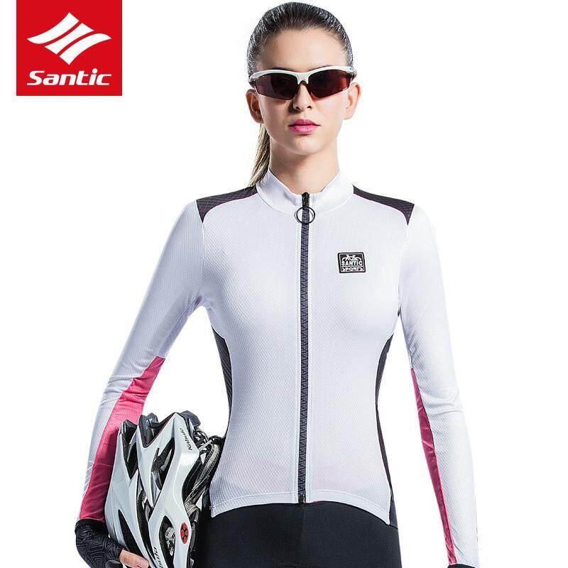 Santic Women Long Sleeve Cycling Jersey Ciclismo Anti-Sweat Anti-UV Breathable  Road Bike 0170a4ffe