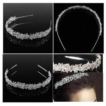Bridal Wedding Rhinestone Crystal Tiara Crown Hair Band Headband Prom Pageant