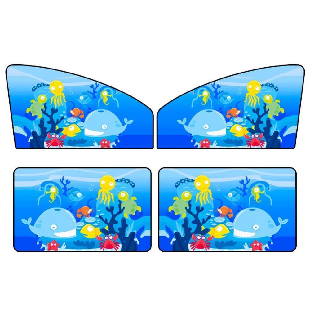【Penurunan Harga Rp50 000】Batas Waktu 4 Buah Penutup Pelindung Terik Matahari Anti Sinar UV Untuk Mobil Tirai Jendela Magnetik Sisi Depan Dan