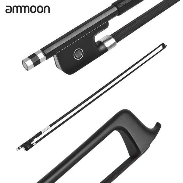 ammoon 4/4 Violin Fiddle Bow Carbon Fiber Round Stick Ebony Frog Black Malaysia