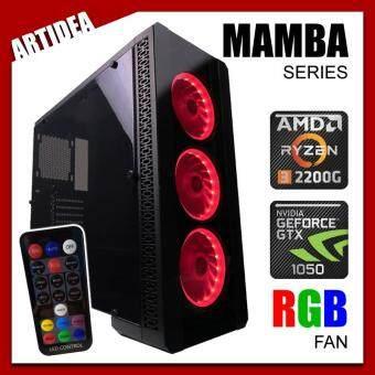 ARTIDEA NOVA MAMBA GAMING PC ( Ryzen 3 2200G / A320M MOBO / 8GB 2666MHz RAM / GTX 1050 2GB / 1TB HDD / FSP 500W BRONZE 80+ PSU )
