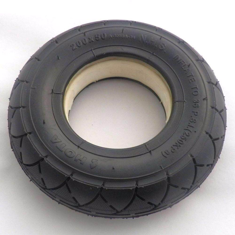 Scooter Tubeless Solid No Flats Tire 200 X 50 (8 X 2) By Freebang.