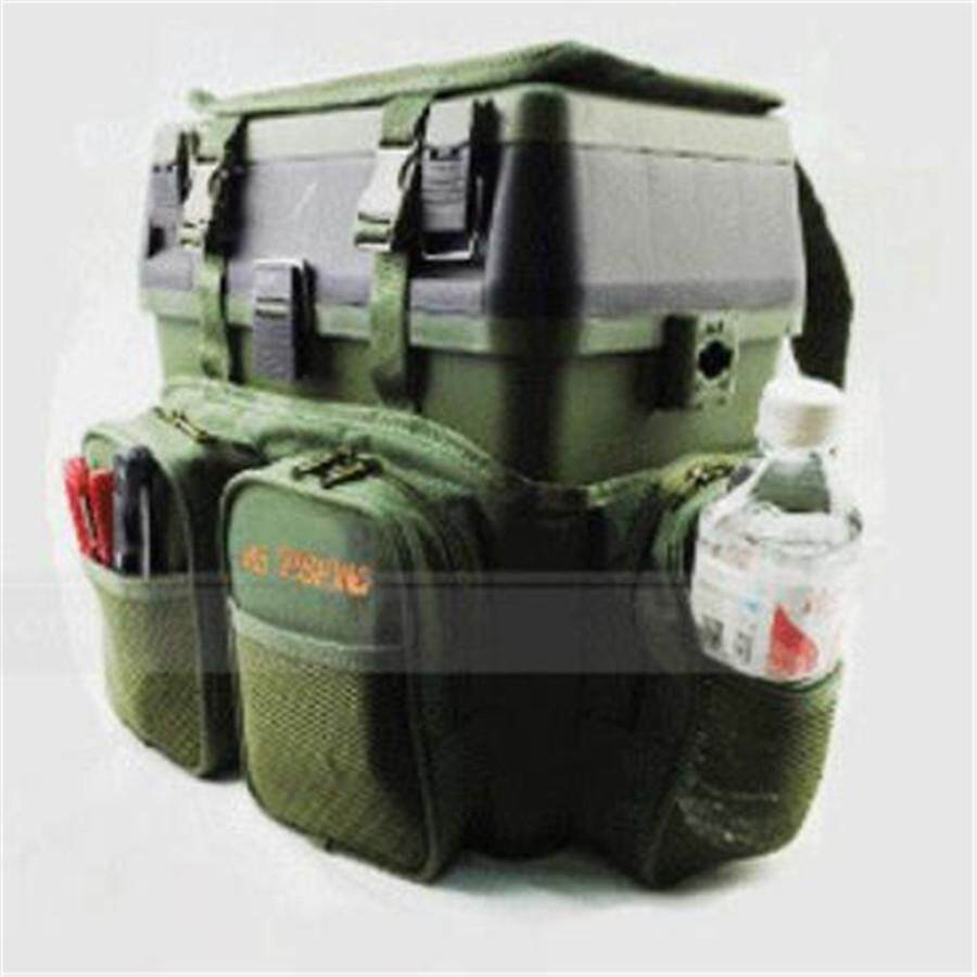 SaiDeng Fly Fishing Backpack Fishing Outdoor & Adjustable Size+Fishing  Tackle Box