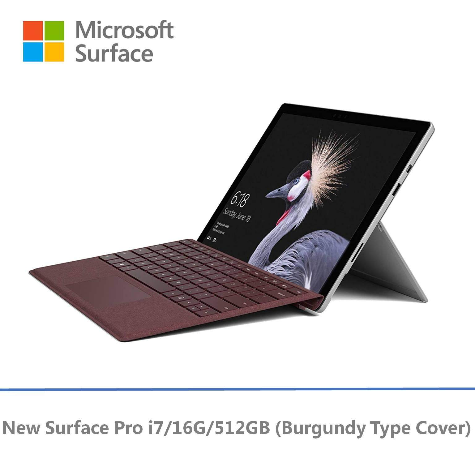 NEW Microsoft Surface Pro - i7 / 512GB / 16GB RAM + Free Signature Pro Type Cover Malaysia