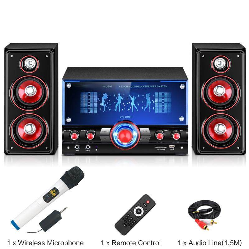 Active Subwoofer Multimedia 2.1 Stereo Sound Computer/TV Speakers System For Gaming/Music/Movies/Microphone singing/Bluetooth/USB Malaysia