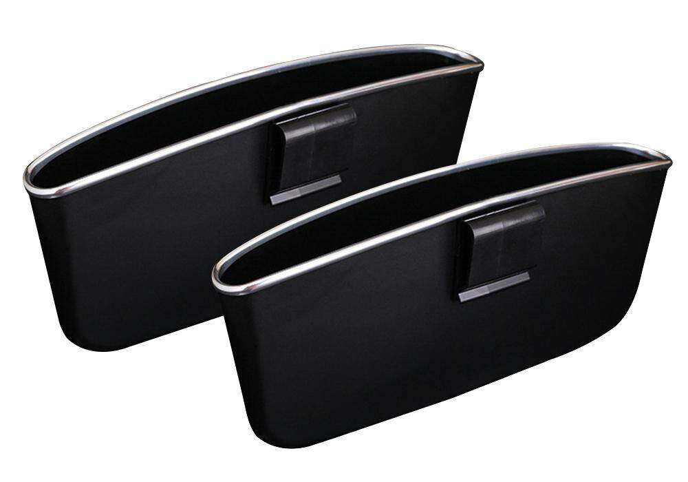 Kobwa 2 Pcs Car Seat Catcher Gap Filler Organizer Center Console Side Pocket, Black By Kobwa Direct.