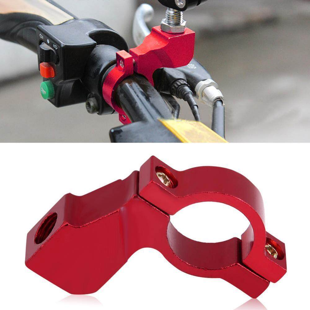 10mm Motorcycle Rearview Mirror Bracket Handlebar Mount Mirror Adapter Holder Clamp Red By Qilu.