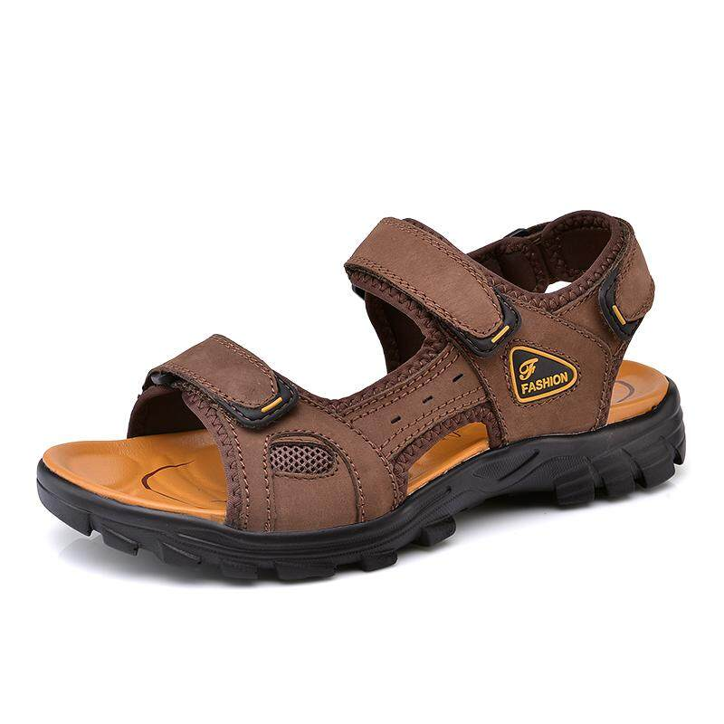 166a790c30076c Camel Sandals 2018 New Men s New Men s Leather Outdoor Beach Shoes Korean  Sports Casual Shoes Breathable
