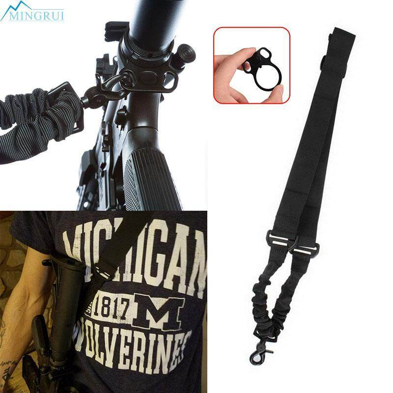 Mingrui Store Black 223 Rifle Single Tactical Adapter Tactical Sling Durable By Mingrui.