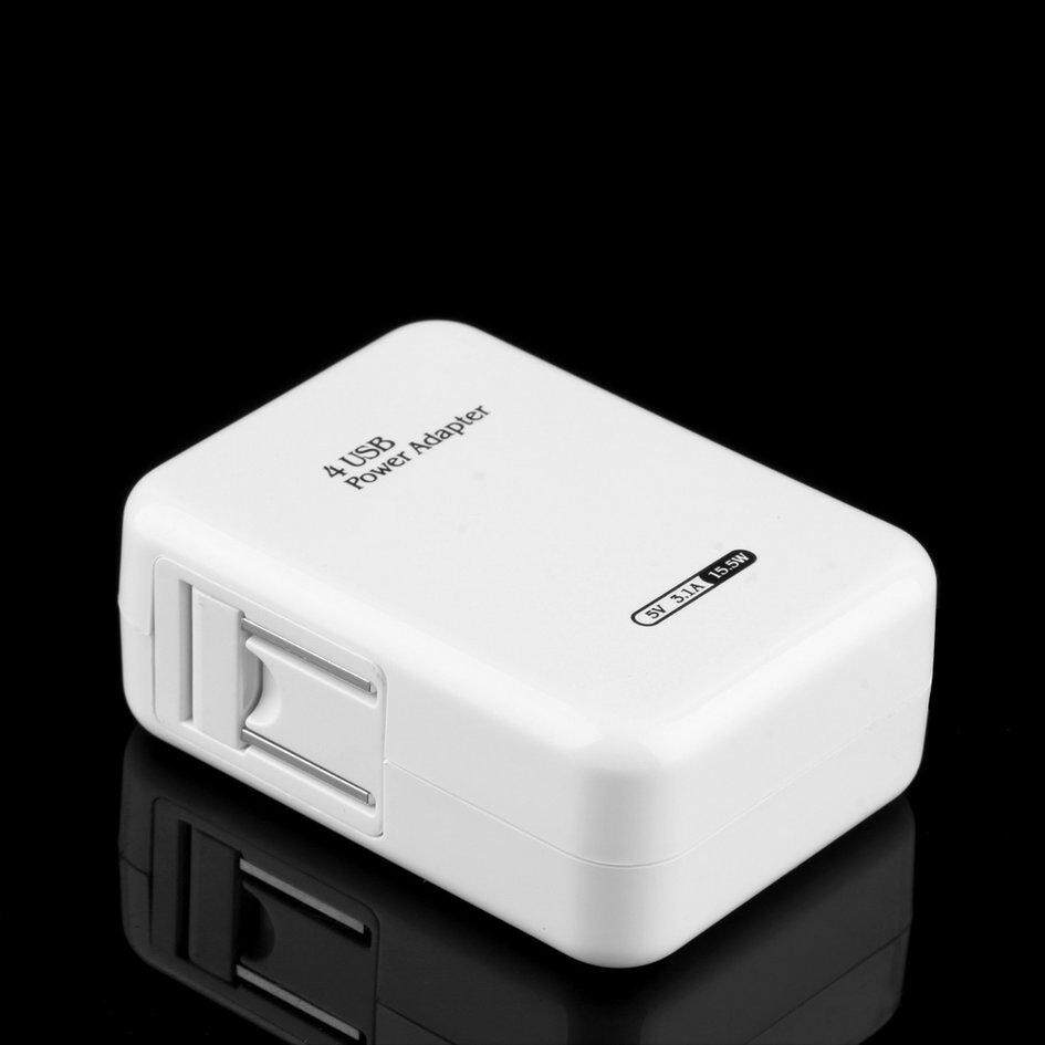 OH 2.1A 4 Ports USB Portable Home Travel Wall Charger US Plug AC Power Adapter - Intl Malaysia