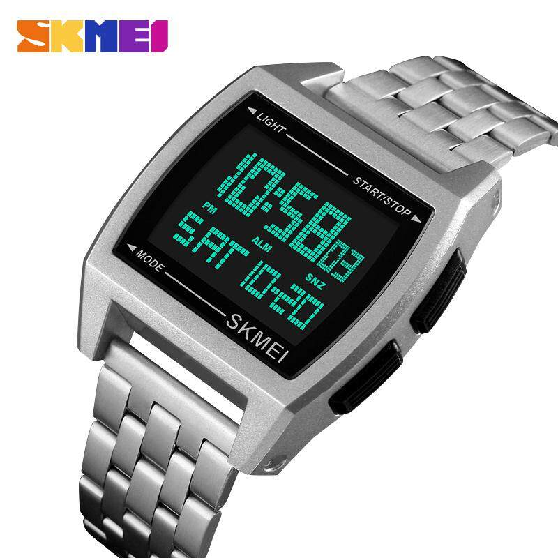 SKMEI 1368 Men/Women Digital Wrist Watch Rectangle Waterproof Sport Watches Malaysia