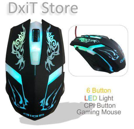 Gaming Mouse Wired Optical easy grab and heavy weight Malaysia