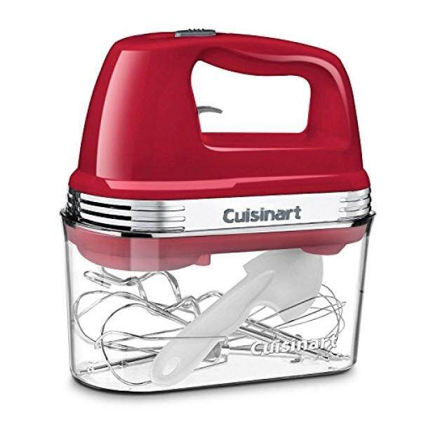 Cuisinart Power Advantage 5-Speed Hand Mixer with Storage Case BPA Free Red