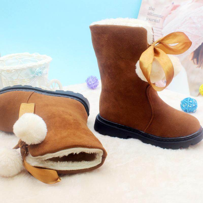 clear and distinctive buy cheap timeless design Children Snow Boots 2018 Winter Shoes Waterproof Girls Cute Boots Leather  Thick Short Warm Boots Fashion Kids Shoes Size 26-37
